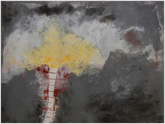 unterschwellig (Acryl, Gouache, Bleistift auf Papier, 265g/m², 40 x 30 cm)