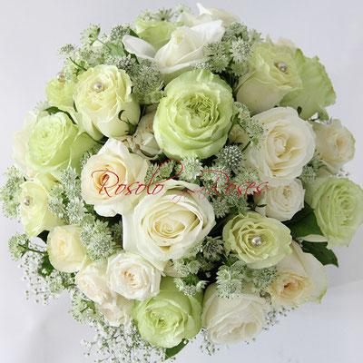 Bouquet de roses en blanc Fleurop - Genève