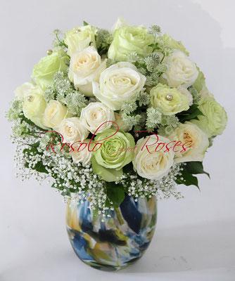 Bouquet de roses en blanc Fleurop - Lovink