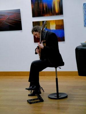 """Vernissage """"waterdimensions"""" am 6.3.15 im Gewölbesaal der Mohr-Villa"""