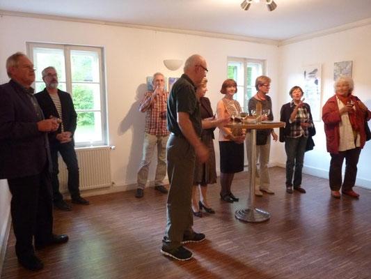 Vernissage: Papier ist geduldig - 7. Mai 2015 im Erdgeschoss der Mohr-Villa