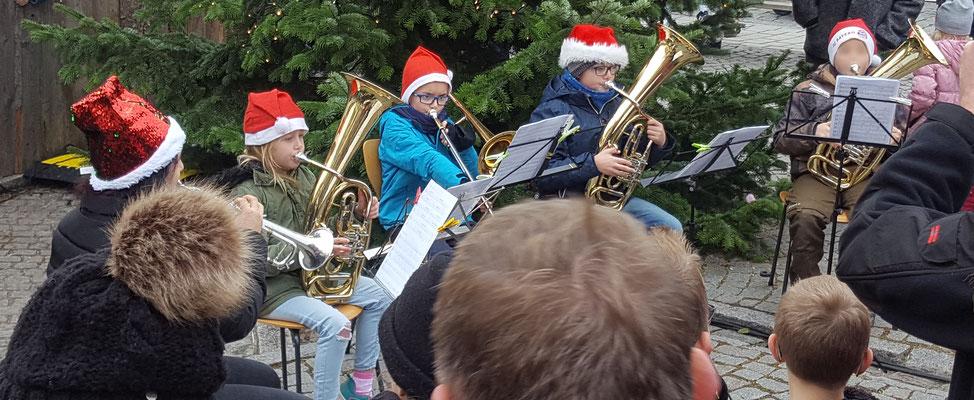 Die Brassklasse unter Leitung von Christine Westermair