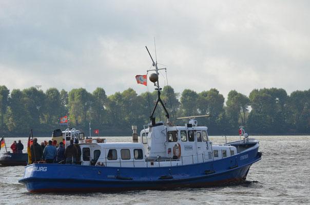 OTTENSTREUER zur Parade Hamburger Traditionsschiffe am 06.10.2012