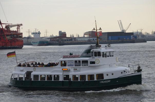 KIRCHDORF im Hamburger Hafen am 15.12.2012
