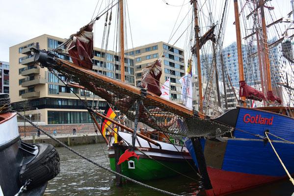 GOTLAND im Tradionsschiffhafen der Hafencity beim 824.Hamburger Hafengeburtstag am 10.05.2013