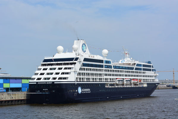 AZAMARA QUEST (CLUB CRUISES) am HCC HafenCity am 24.07.2013