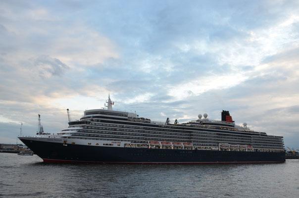 Queen Elizabeth zu den Cunard Queens Day am HCC Hafencity am 15.07.2012