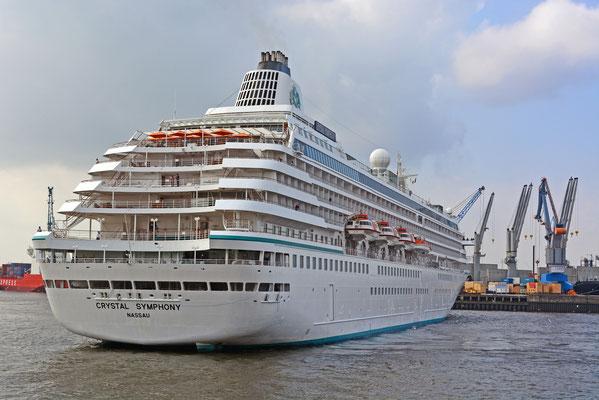 CRYSTAL SYMPHONY läuft am 08.09.2014 im Hamburger Hafen/HCC HafenCity ein