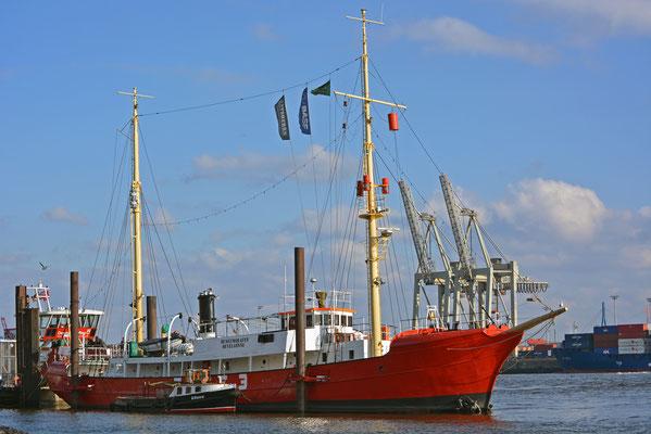 EBE 3 (Feuerschiff) im Museumshafen Hamburg/Övelgönne