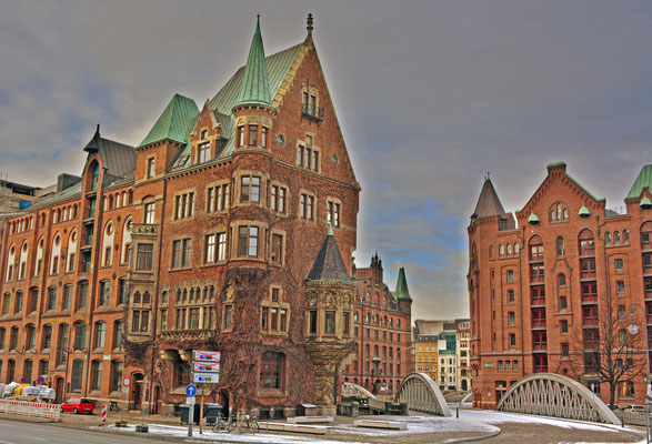 Historische Speicherstadt im Winter 2013/2014