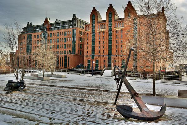 Im Winter am Internationalen Museum Hamburg
