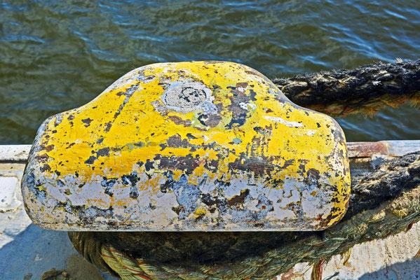 Ein Poller im Baakenhafen...hier ist bzw.war die STUBNITZ festgemacht.