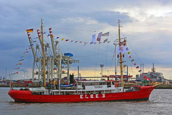 Feuerschiff ELBE 3 zur Parade Hamburger Traditionsschiffe am 23.08.2014