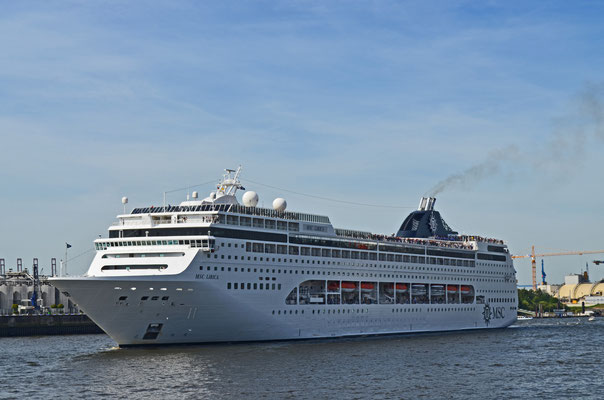 MSC LIRICA zu den Hamburg Cruise Days 2012