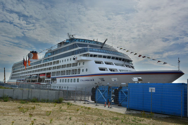 MS COLUMBUS 2 am HCC HafenCity am 12.08.2013