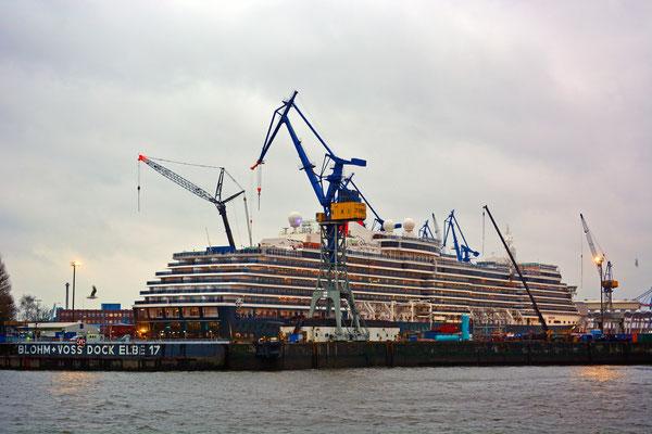 Queen Victoria im DOCK ELBE 17 am 12.01.2015