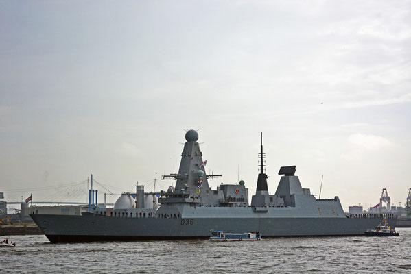 D 36 HMS Defender (Zerstörer/Großbritannien) zum Hamburger Hafengeburtstag 2013