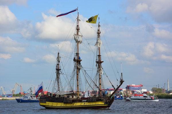 Sthandard (Replik einer Fregatte aus dem 18.Jahrdundert als Replik einer russischen Fregatte aus dem 18.Jahrhundert und erste Fregatte unter Peter dem Großen,Russland)