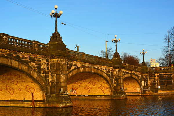 Lombardsbrücke zum Sonnenuntergang