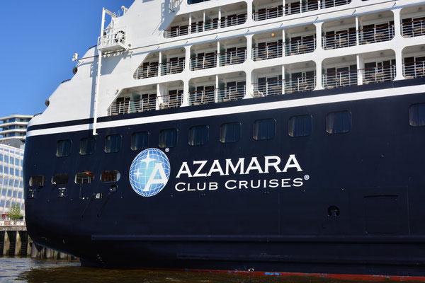AZAMARA QUEST (CLUB CRUISES) am HCC HafenCity am 23.07.2013