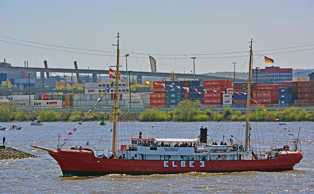 Feuerschiff ELBE 1 zum 827.Hamburger Hafengeburtstag