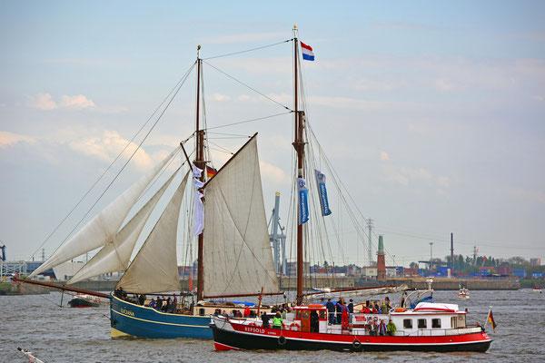 LUICIANA zur Einlaufparade beim 826.Hamburger Hafengeburtstag am 08.05.2015