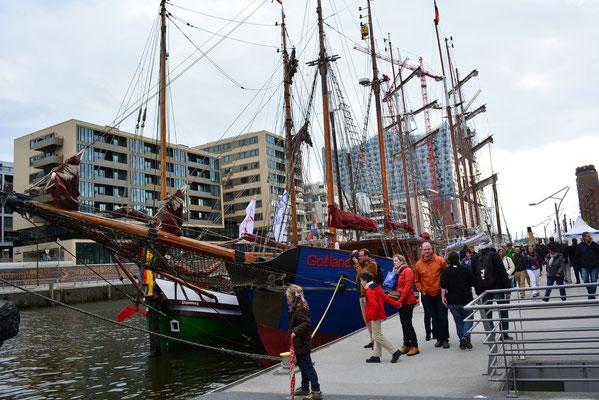 GOTLAND im Traditionsschiffhafen der Hafencity beim 824.Hamburger Hafengeburtstag am 10.05.2013
