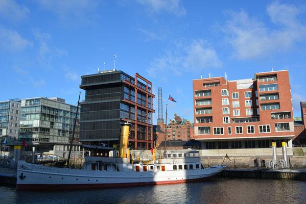 SCHAARHÖRN im Traditionsschiffhafen der Hafencity am 02.02.2013