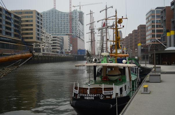 STICKERSGATT im Traditionsschiffhafen der Hafencity am 17.11.2012