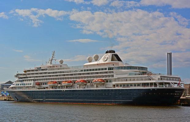 PRINSENDAM am HCC HafenCity am 25.08.2014
