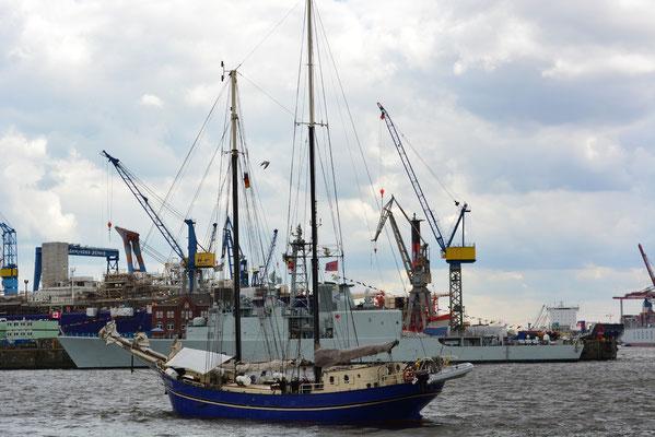 ZEPHYR beim 824.Hamburger Hafengeburtstag am 10.05.2013