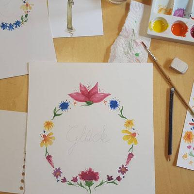Von meinen Teilnehmern gemalt
