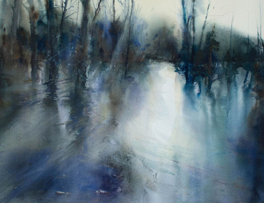 Flood Light - watercolour - 65 x 84 cms