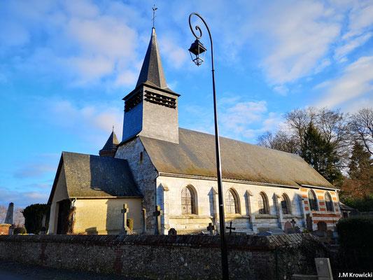Eglise Saint Ouen 🕍 ✝👼. Epoque XXème – XVIIème – XVIème. Principales étapes de construction chœur 16e siècle et 17e siècle ; nef 16e siècle ; porche 20e siècle.