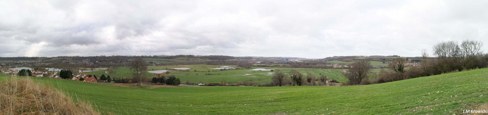Panorama sur la vallée d'Arques-la-Bataille 👍😊.