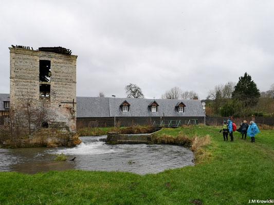 Ruines du vieux moulin à eau abandonné sur l'Eaulne à Ancourt. Passage par les passerelles 🌫 🌉 entre les Prés et la prairie de Sauchay.