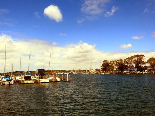 Der Hafen von Paynesville.