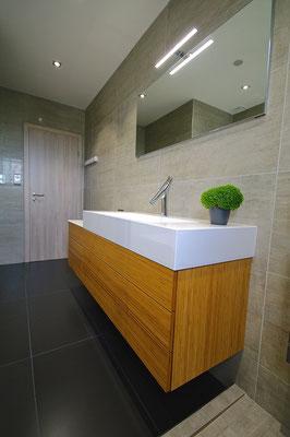 meuble crono burgbad axor starck organic salle de bains carrelage noir salle de bains RG intérieur metz