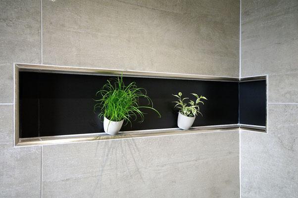 niche salle de bains carrelage noir salle de bains RG intérieur metz