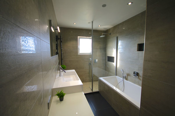 meuble crono burgbad axor starck organic salle de bains carrelage noir salle de bains entreprise RG intérieur metz
