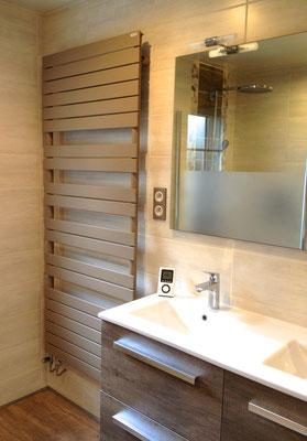 Salle de bain Nature sèche serviette ACOVA taupe meuble Nabis Woodstock Brossette RG Intérieur