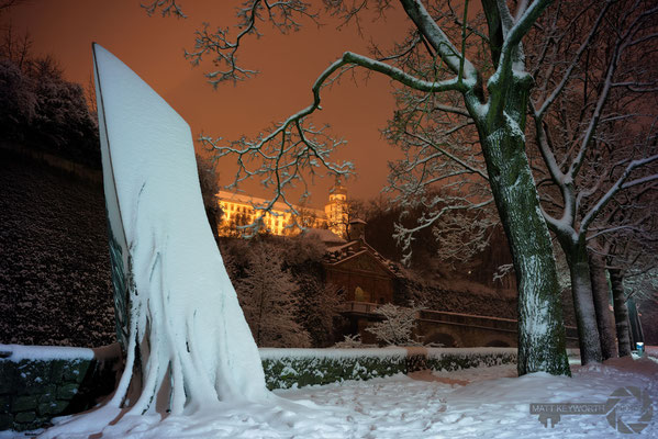 Schnee im Würzburg