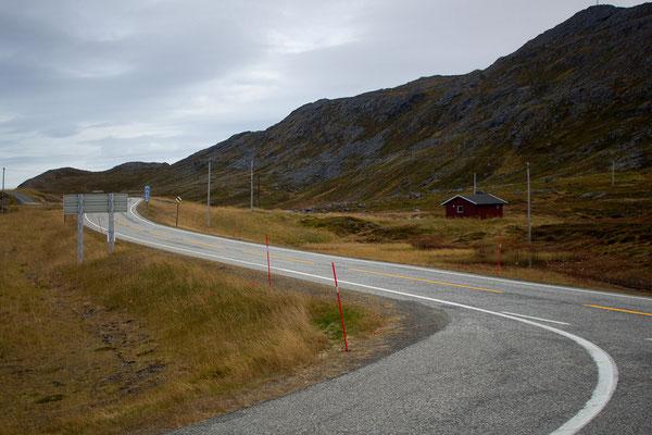Straße am Nordkapp
