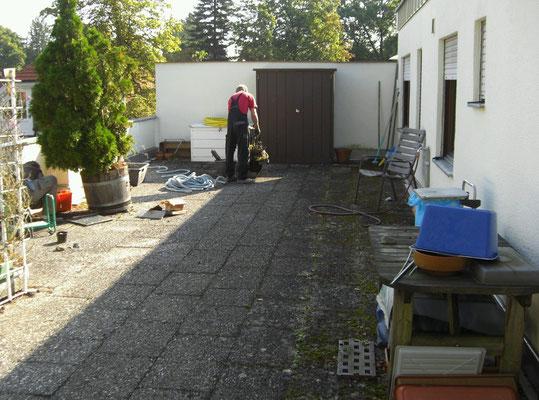 Terrassenreinigung
