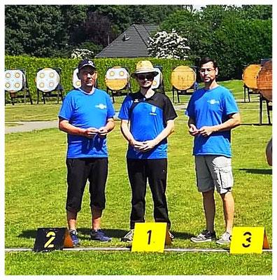 1. Platz Gunnar Gausmann; 2. Platz Frank U.-A-Langbogen Master