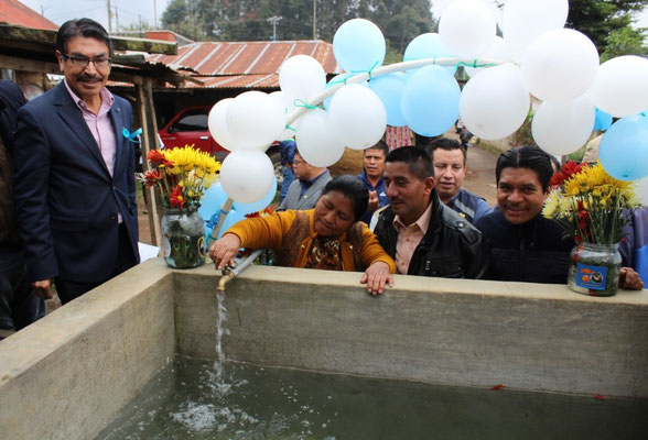 Agua de calidad para 1,981 habitantes de Aldea Los González, Palestina de los Altos, Quetzaltenango, Guatemala.