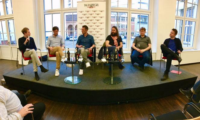 Von links nach rechts: Johannes Nedo, Jörn Meyn, Marcus Jung, Christian Arbeit, Matthias Koch, Ronny Blaschke