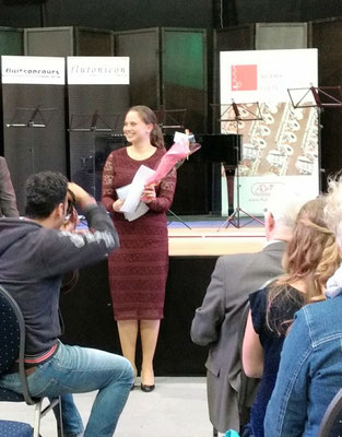 Katinka Nelemans wint de tweede prijs op het Benelux Fluitfestival 2017