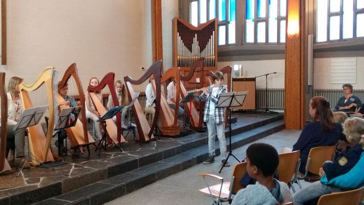 Daan en Eliza op de Open dag Muziek opMaat Amersfoort 2017