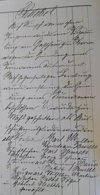 Gründungsprotokoll des TSV, Seite 1